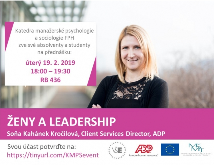 Přednáška na téma: Ženy a leadership /19. 2./