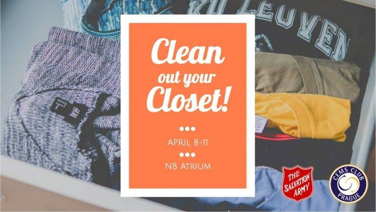 """Sbírka oblečení """"Clean Out Your Closet! powered by CEMS"""""""
