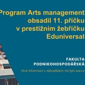 Arts management obsadil 11. místo v žebříčku Eduniversal