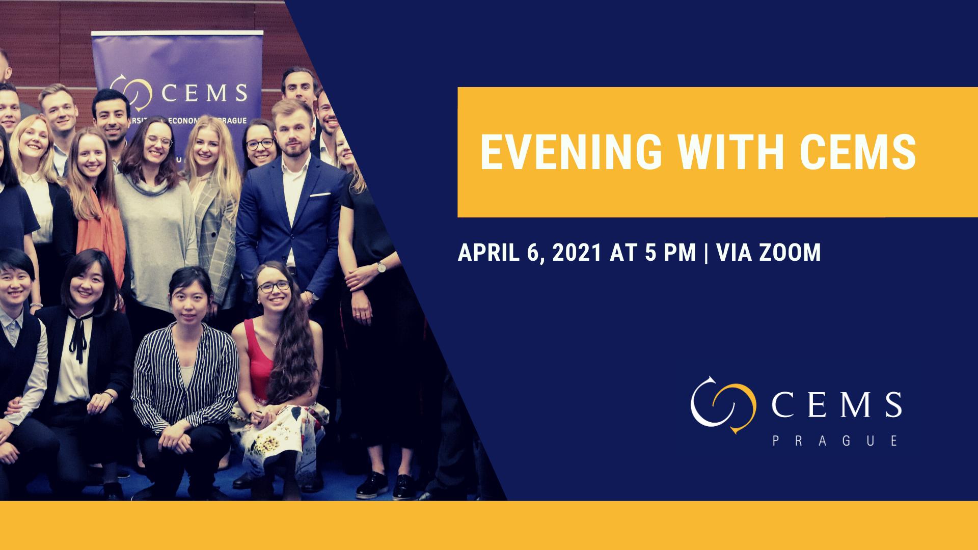 Evening with CEMS - Událost pro zájemce o studium /6. dubna/