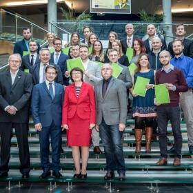 Udílení certifikátů Evropské logistické asociace absolventům vedlejší specializace Logistika