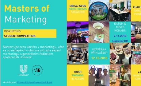 """Soutěž mladých marketérů """"Masters of Marketing 2018"""" zná své vítěze"""