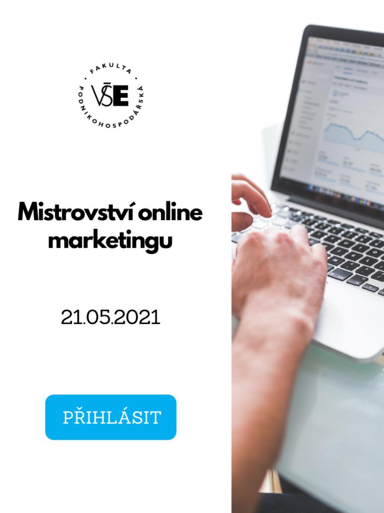Exekutivní kurz Mistrovství online marketingu /21. května/