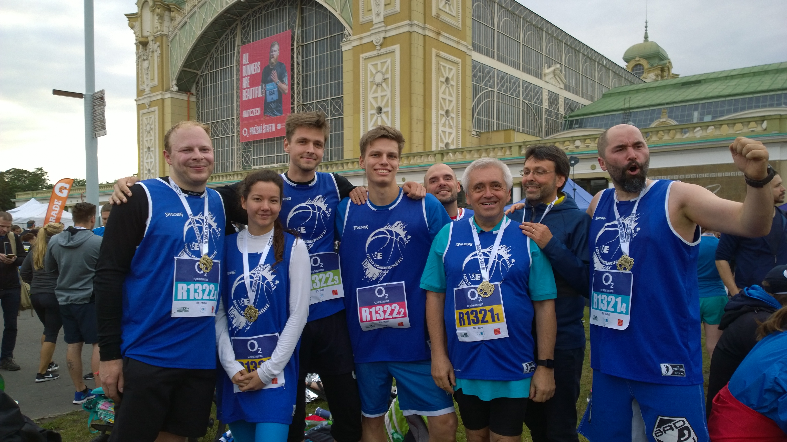 Akademičtí pracovníci a studenti reprezentovali poprvé svou fakultu na Run Czech O2 Pražskéštafetě 2018